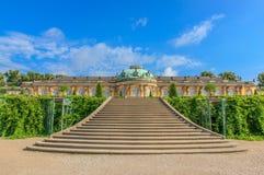 Slotten och parkerar Sanssouci, Potsdam, Tyskland Royaltyfri Bild
