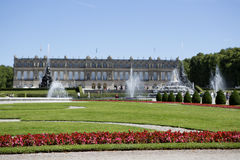 Slotten parkerar Herrenchiemsee, Bayern Arkivbilder