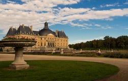 Slotten Vaux-le-Vicomte, nära Paris, Frankrike Fotografering för Bildbyråer