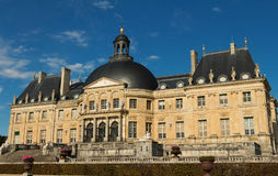 Slotten Vaux-le-Vicomte, nära Paris, Frankrike Arkivfoton