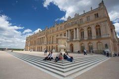 Slotten Versailles var en kunglig chateau Royaltyfri Foto