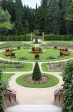 slottet arbeta i trädgården konopiste Royaltyfri Foto