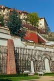 slottet arbeta i trädgården prague Royaltyfri Bild