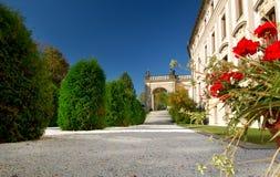 slottet arbeta i trädgården prague Royaltyfri Foto