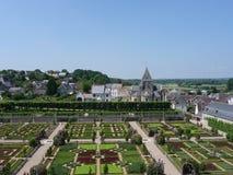 slottet arbeta i trädgården villandry Royaltyfri Bild