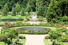 slottet arbeta i trädgården weesenstein Royaltyfria Bilder