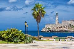 Slottet av El Morro i Havana Arkivfoto