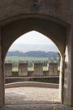 Slottet av Gruyères (Château de Arkivbilder