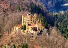 Slottet av Hohenschwangau i Tyskland _ Arkivbilder