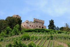 Slottet av Kintzheim i Alsace Arkivbilder