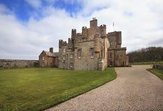 Slottet av Mey (förr det Barrogill slottet) Arkivbilder
