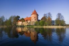 Slottet av Trakai Royaltyfria Bilder
