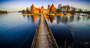Slottet av Trakai fotografering för bildbyråer