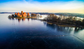 Slottet av Trakai arkivbild