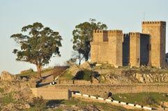 Slottet, Cortegana Royaltyfria Bilder
