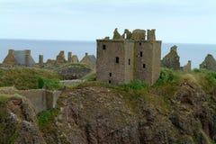 slottet dunnotar scotland stonehaven Royaltyfri Bild