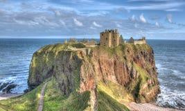 slottet dunnottar scotland stonehaven Royaltyfria Bilder
