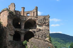 slottet fördärvar Arkivfoto