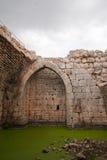 Slottet fördärvar i Israel Arkivfoto