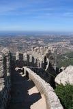 slottet förtöjer den portugal sintraen Fotografering för Bildbyråer
