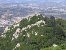 slottet förtöjer den portugal sintraen royaltyfria foton