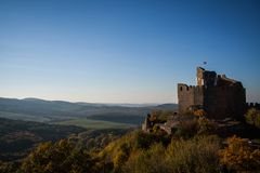 Slottet landskap Arkivbilder