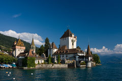 slottet oberhofen Arkivfoton