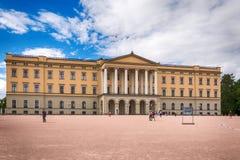 Slottet : Royal Palace à Oslo, Norvège Photo stock