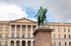 Slottet Royal Palace em Oslo central imagem de stock