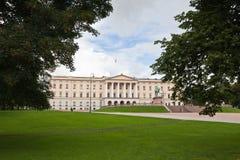 Slottet Royal Palace en Oslo central Imagenes de archivo