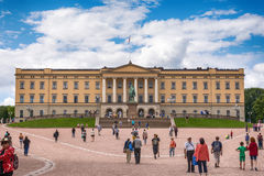 Slottet: the Royal Palace in Oslo, Norway Stock Photo