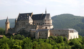 slottet vianden Royaltyfri Foto