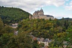 slottet vianden Royaltyfri Fotografi