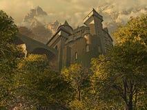 slottfästning royaltyfri illustrationer