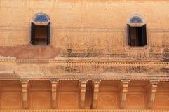 Slottfönster i Jaipur. Royaltyfri Foto