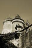 slottfrance medeltida gammal perigord royaltyfri fotografi