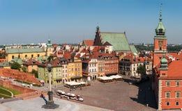 Slottfyrkant i Warszawa. Royaltyfria Bilder