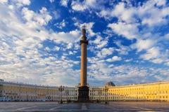 Slottfyrkant, St Petersburg, Ryssland Arkivbild