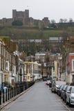 Slottgata, Dover, Kent, England royaltyfria foton