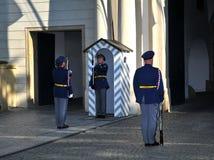 slottguard prague Fotografering för Bildbyråer