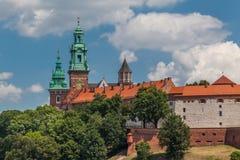 slotthistoriekrakow medeltida minnes- poland wawel Royaltyfri Fotografi