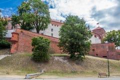 slotthistoriekrakow medeltida minnes- poland wawel Royaltyfria Bilder