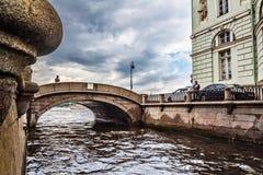 Slottinvallning, sikt på den Peter och Paul fästningen, Neva flod, Fotografering för Bildbyråer