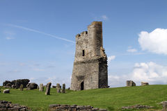 Slottkeep på Aberystwth, Wales arkivfoton