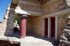 SlottKnossos Kreta Grekland arkivfoto