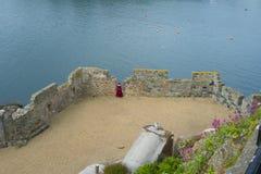 Slottkornett på ön av Guernsey Royaltyfri Fotografi
