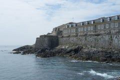 Slottkornett på ön av Guernsey Fotografering för Bildbyråer