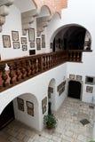 Slottkorridorer royaltyfri foto