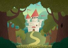 Slottlandskap Arkivfoto