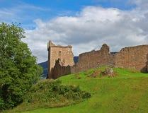 slottLoch Ness scotland urquhart Royaltyfri Fotografi